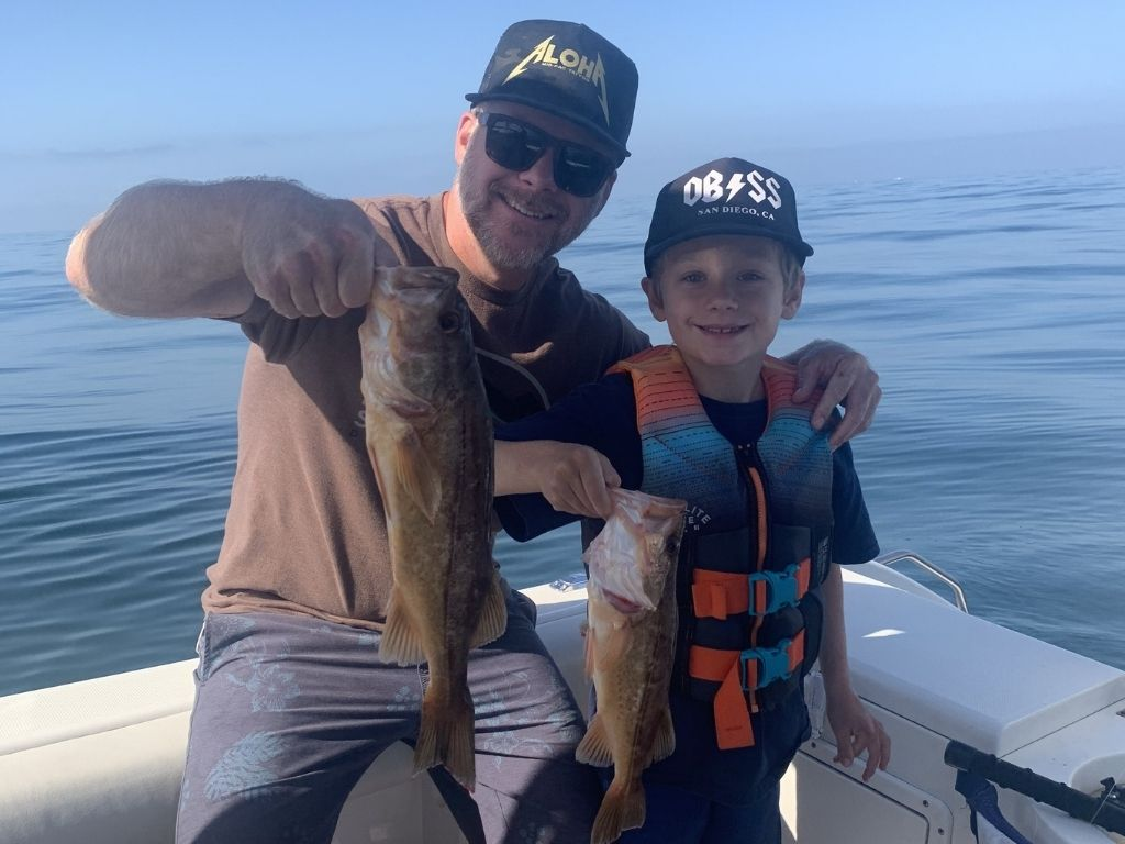 San Diego Fishing Trips father and son catch some fish